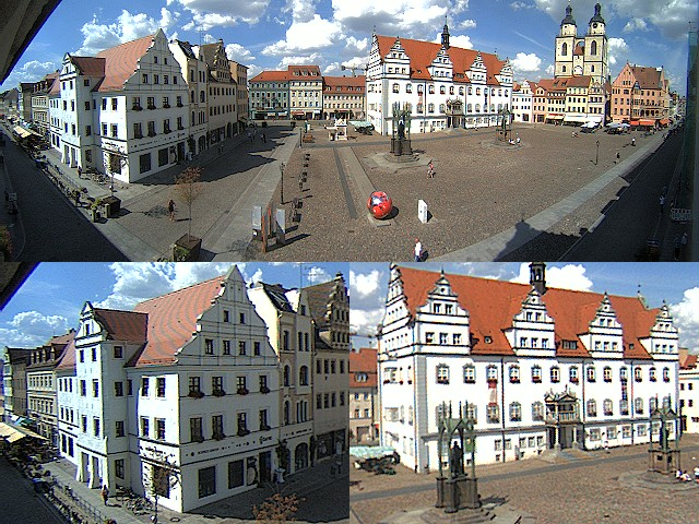 Wittenberg City Center, Markt and Rathaus (Town Hall)